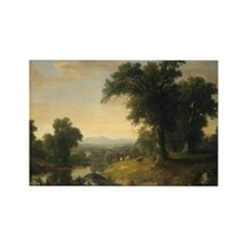 Asher Brown Durand - A Pastoral Scene Rectangle Ma