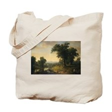 Asher Brown Durand - A Pastoral Scene Tote Bag