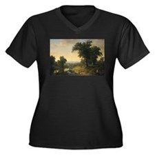 Asher Brown Durand - A Pastoral Scene Plus Size T-
