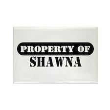 Property of Shawna Rectangle Magnet