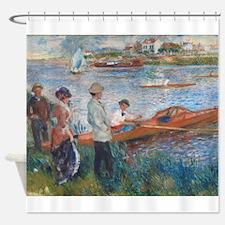 Auguste Renoir - Oarsmen at Chatou Shower Curtain