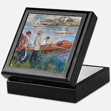 Auguste Renoir - Oarsmen at Chatou Keepsake Box