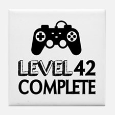 Level 42 Complete Birthday Designs Tile Coaster