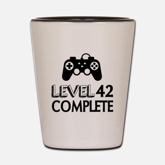 Level 42 Complete Birthday Designs Shot Glass
