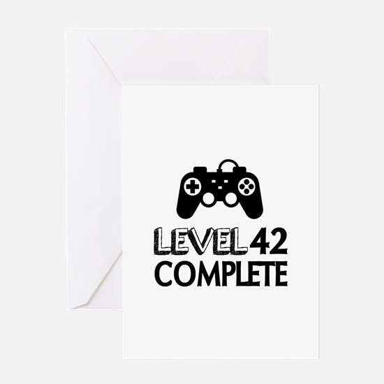 Level 42 Complete Birthday Designs Greeting Card