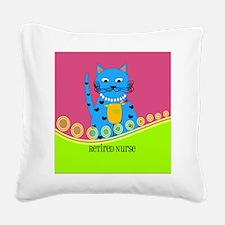 Retired Nurse Cat Square Canvas Pillow