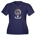 Badge - Kirkpatrick Women's Plus Size V-Neck Dark