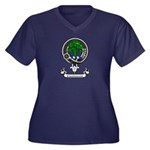 Badge - Kinninmont Women's Plus Size V-Neck Dark T
