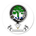 Badge - Kinninmont Round Car Magnet