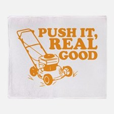 Push It Real Good Gold Throw Blanket