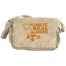 Push It Real Good Gold Messenger Bag