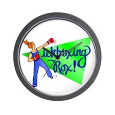 Kickboxing Rox Wall Clock