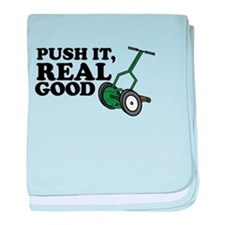 Push It Real Good Gold baby blanket