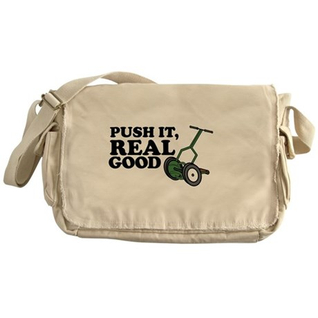 Push It Real Good Gold Messenger Bag