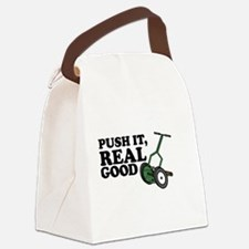 Push It Real Good Gold Canvas Lunch Bag