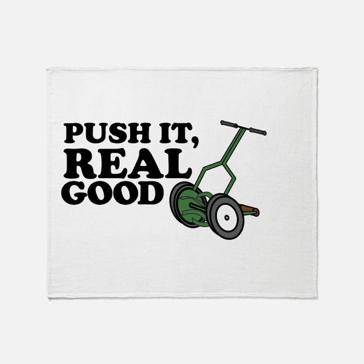 Push It Real Good Gold Throw Blanket