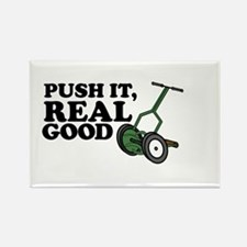 Push It Real Good Gold Rectangle Magnet