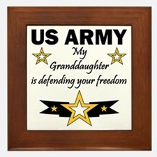 Army Granddaughter Defending Freedom Framed Tile