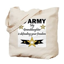 Army Granddaughter Defending Freedom Tote Bag