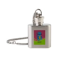 pharmacist cat 4 Flask Necklace