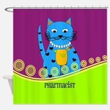 pharmacist cat 3 Shower Curtain