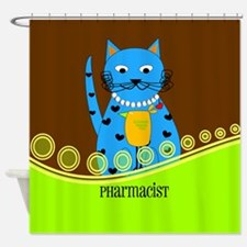 Pharmacist cat 2 Shower Curtain