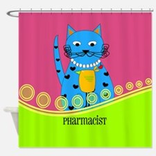 pharmacist cat 1 Shower Curtain