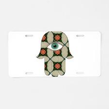 Hamsa4 lg Aluminum License Plate