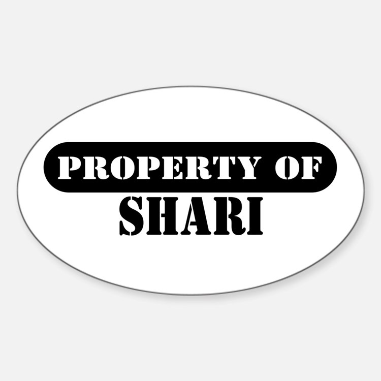 Property of Shari Oval Decal