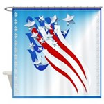 Sweeping Old Glory Shower Curtain