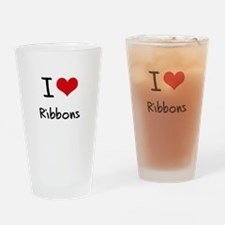 I Love Ribbons Drinking Glass