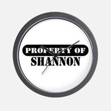 Property of Shannon Wall Clock