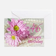 46th Birthday card with daisies Greeting Card