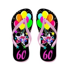 60TH PARTY Flip Flops