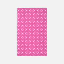 Hot Pink and White Polka Dot Pattern