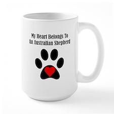 My Heart Belongs To An Australian Shepherd Mug