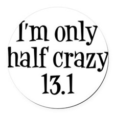 Funny Racing Round Car Magnet