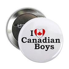 I love Canadian Boys Button