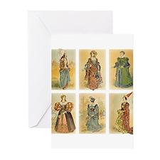 Vintage Paris Fashion (Middle ages) Greeting Cards