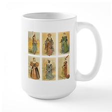 Vintage Paris Fashion (Middle ages) Mug