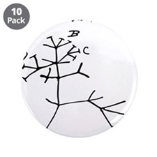 """Darwin Tree of Life Black 3.5"""" Button (10 pack)"""