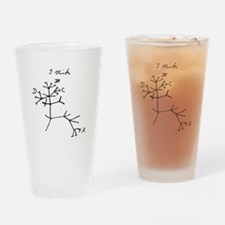 Darwin Tree of Life Black Drinking Glass