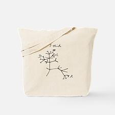 Darwin Tree of Life Black Tote Bag
