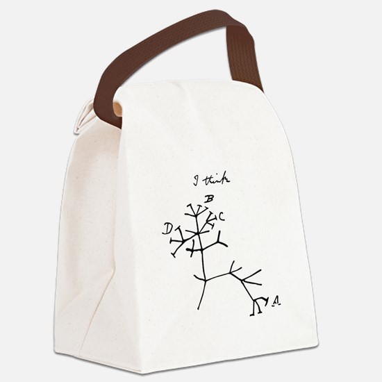 Darwin Tree of Life Black Canvas Lunch Bag