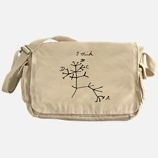 Darwin Tree of Life Black Messenger Bag