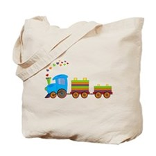 Colorful Toy Train Tote Bag