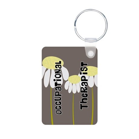 Occupational Therapy Aluminum Photo Keychain