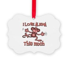 I Love Alena Ornament