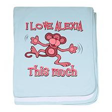 I Love Alexia baby blanket