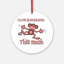 I Love Alexzander Ornament (Round)